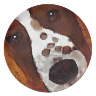 Welshie Face Art Plate
