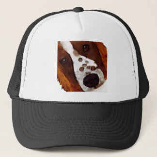 Welshie Face Art Trucker Hat