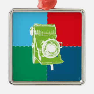Welta Weltur camera Silver-Colored Square Ornament