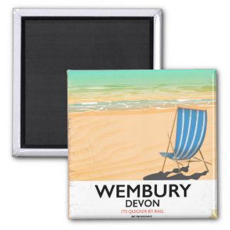 Wembury Devon Beach travel poster Magnet
