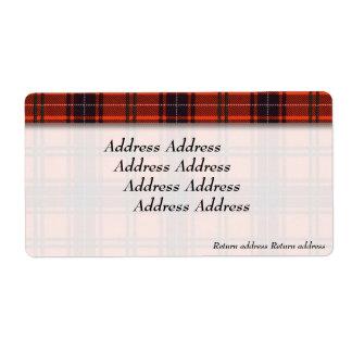 Wemyss clan Plaid Scottish tartan
