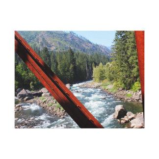 Wenatchee River from Old Penstock Pipeline Bridge Canvas Print