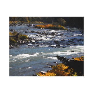Wenatchee River October Wrapped Canvas