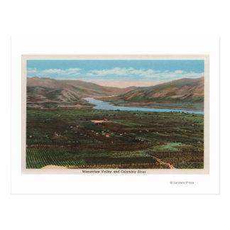 Wenatchee, WAView of Valley & Columbia River Postcard