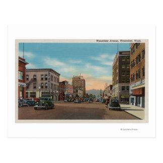 Wenatchee, WAView of Wenatchee Ave. Postcard