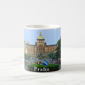 Wenceslas Square and the National Museum in Prague Coffee Mug