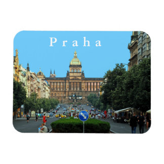 Wenceslas Square and the National Museum in Prague Magnet