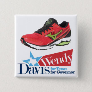 Wendy Davis for Governor 2 Inch Square Button