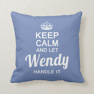 Wendy Handle it! Throw Pillow