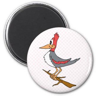 Wendy Woodpecker 2 Inch Round Magnet