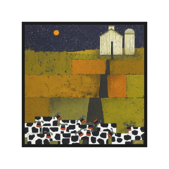 Wenger's Soggy Bottom Farm and Cows Canvas Print