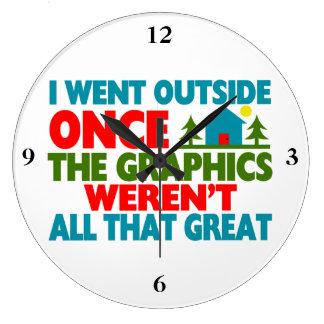 Went Outside Graphics Weren't Great Wallclock