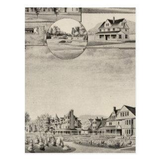 Wentworth Hall, Cottages Postcard