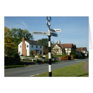 Weobley Village Sign Post Card