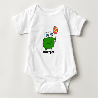 wepeas very cute pea person baby bodysuit