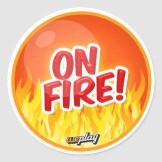 Weplay Props Series 1 - On Fire! Classic Round Sticker