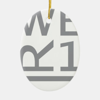 WER1 T-SHIRT CERAMIC OVAL ORNAMENT