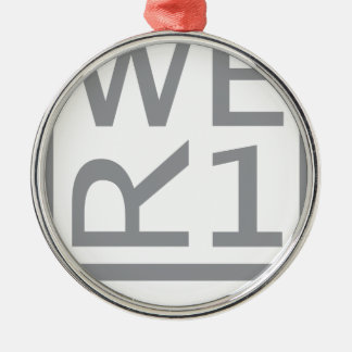 WER1 T-SHIRT METAL ORNAMENT