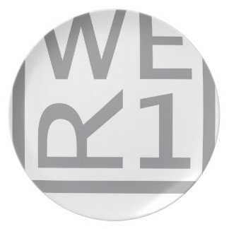 WER1 T-SHIRT PARTY PLATE
