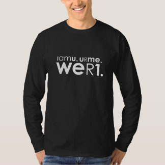 weR1 t-shirt (white type)
