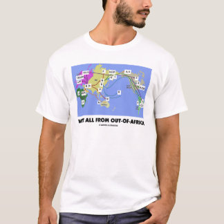 We're All From Out-Of-Africa (Haplogroup) T-Shirt
