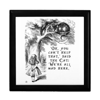 We're all mad here - Cheshire cat Trinket Boxes