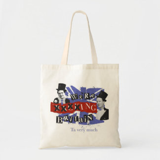"We're ""Backing Britain"" tote bag"