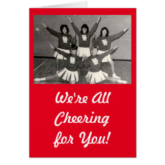 We're Cheering for You with vintage cheerleaders Card