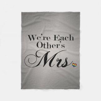 We're Each Other's Mrs. Fleece Blanket