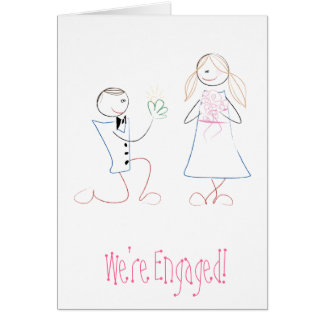 """We're Engaged!"" Greeting card"