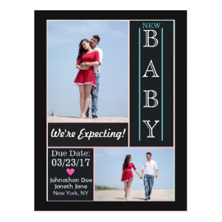We're Expecting Announcement Postcard