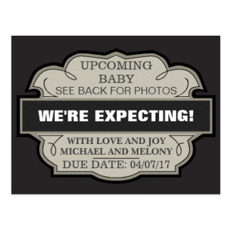We're Expecting! Personalized Announcement Postcard