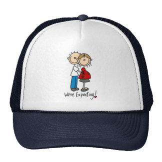 We're Expecting! Pregnant Stick Figure Hat