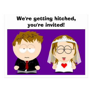 We're getting hitched Postcard - Blank