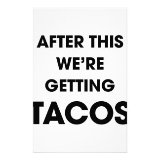 We're Getting Tacos Stationery