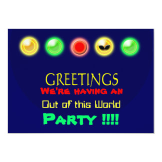 """We're having a  Party !!!! 5"""" X 7"""" Invitation Card"""