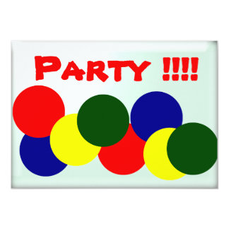 "We're having a  Party !!!! 5"" X 7"" Invitation Card"