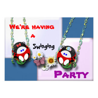 We're having a  Swinging Party !!!! Personalized Invitation