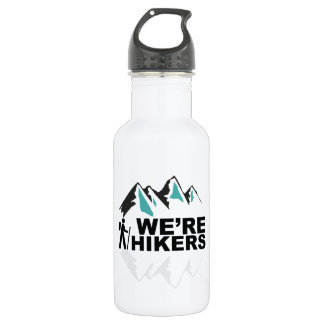 We're Hikers 18oz Stainless White Water Bottle