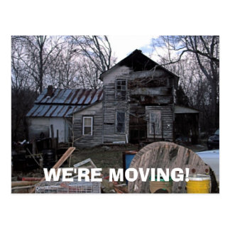'WE'RE MOVING' CARDS POSTCARD