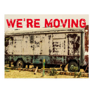 We're Moving Funny Change of Address Postcard