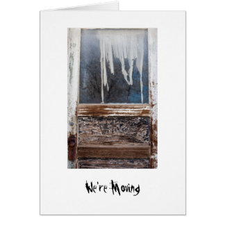 """""""We're Moving"""" Ghost Town Photo Template Card"""