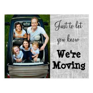 We're Moving Gray Photo New Address Postcards