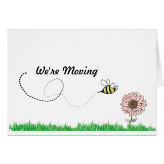 We're Moving Honey Bee Card