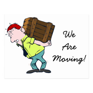 """""""We're Moving"""" new address announcement Postcard"""