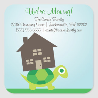 We're Moving - Turtle Mover Stickers