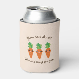 We're Rooting For You Funny Encouraging Carrots Can Cooler