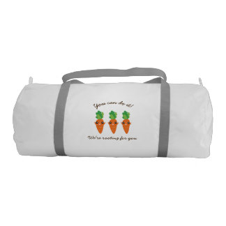 We're Rooting For You Funny Encouraging Carrots Gym Bag