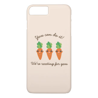 We're Rooting For You Funny Encouraging Carrots iPhone 8 Plus/7 Plus Case