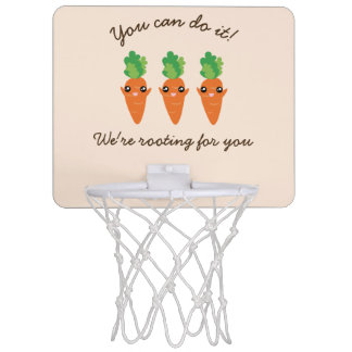 We're Rooting For You Funny Encouraging Carrots Mini Basketball Hoop